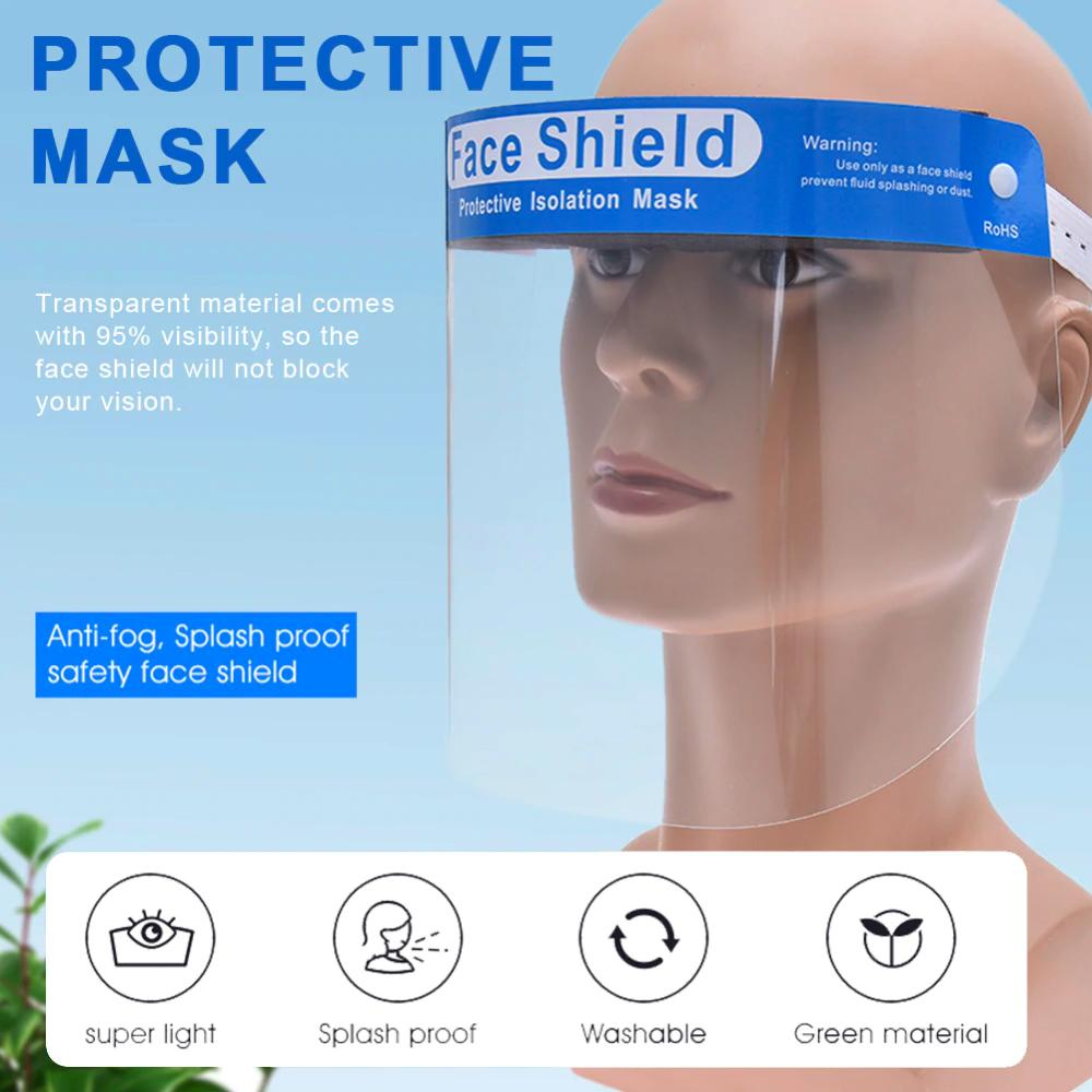 Neuvikter Protective Hat Anti-Spray Spittle Hat Empty Top Hat with High-Definition Transparent Mask for Both Men and Women